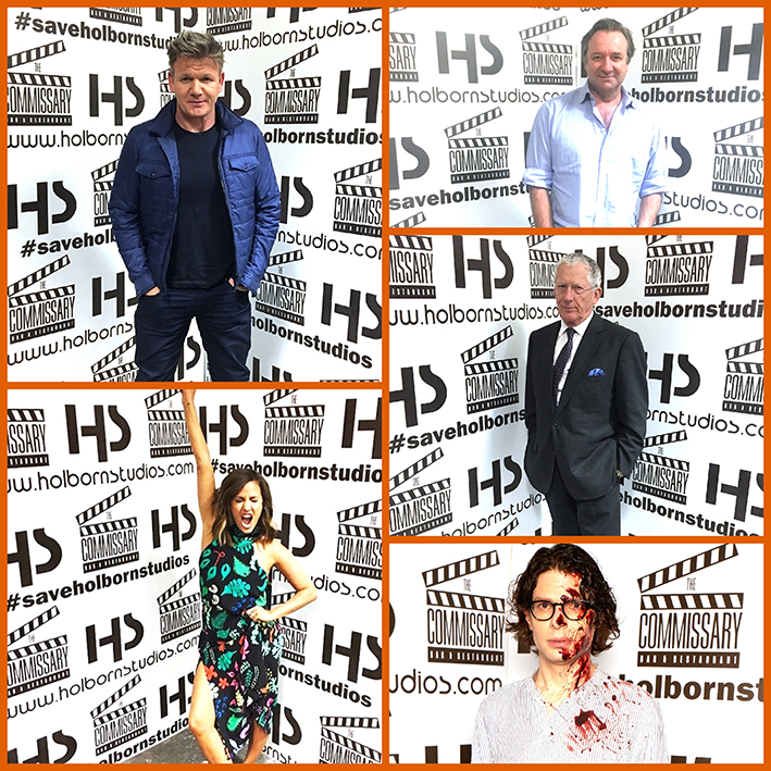 Photo of celebrities supporting Holbourn Studios