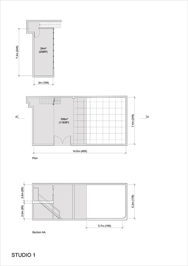 Studio 1 2D Plan