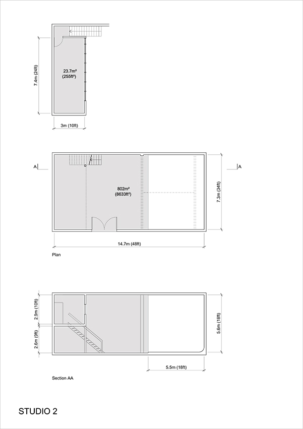 Studio 2 - 2D Floor Plan