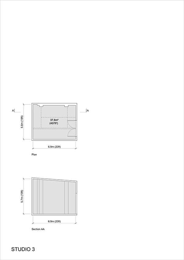 Studio 3 - 2D Floor Plan