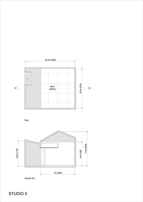Studio 5 - 2D Floor Plan