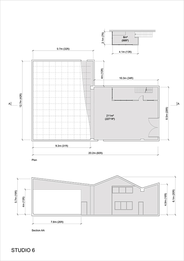 Studio 6 - 2D Floor Plan