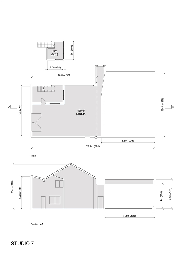 Studio 7 - 2D Floor Plan